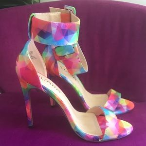 High Heel Multi-Color Shoes! Brand New!